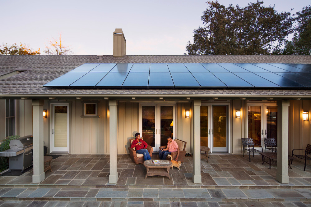 woodland home with solar