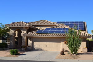 Summerlin home with solar panels